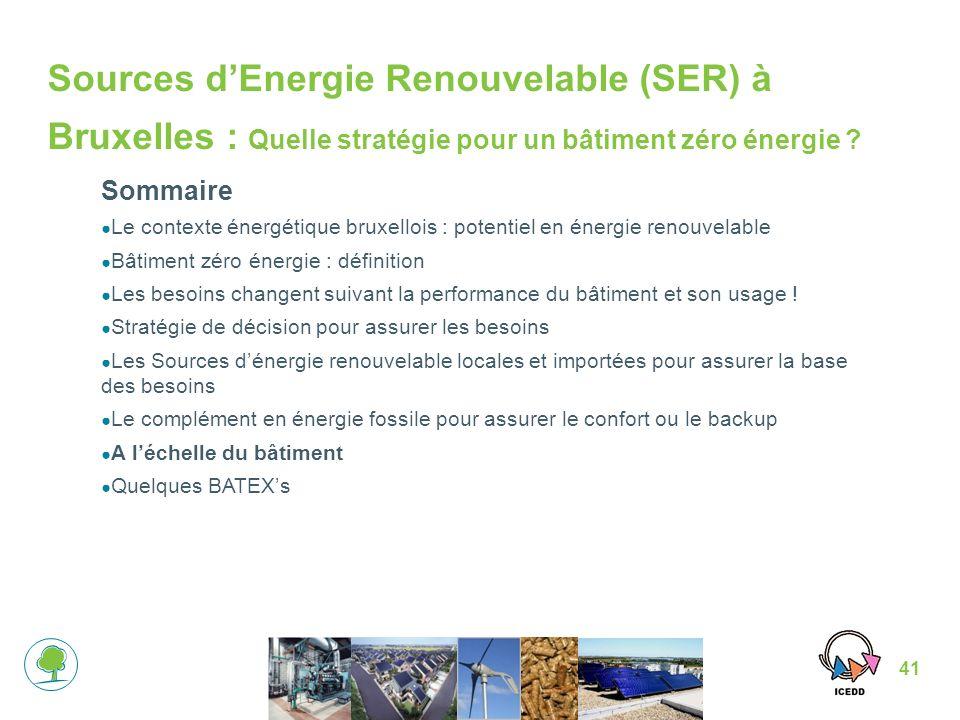 41 Sources dEnergie Renouvelable (SER) à Bruxelles : Quelle stratégie pour un bâtiment zéro énergie .