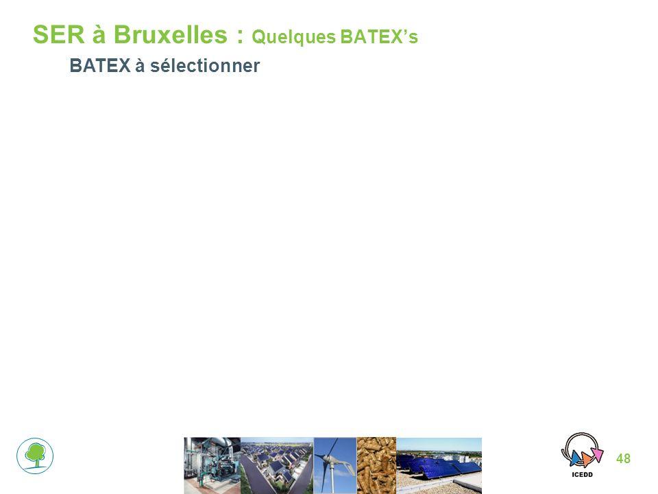 48 SER à Bruxelles : Quelques BATEXs BATEX à sélectionner
