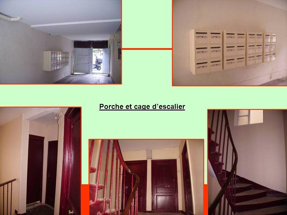 Porche et cage descalier