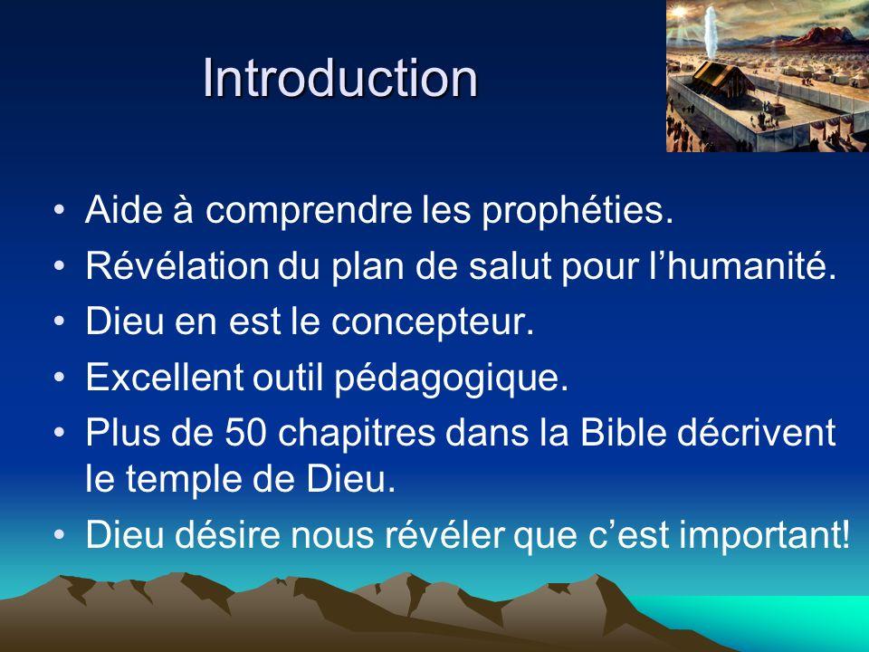 Trois parties : 1)Description du sanctuaire terrestre.