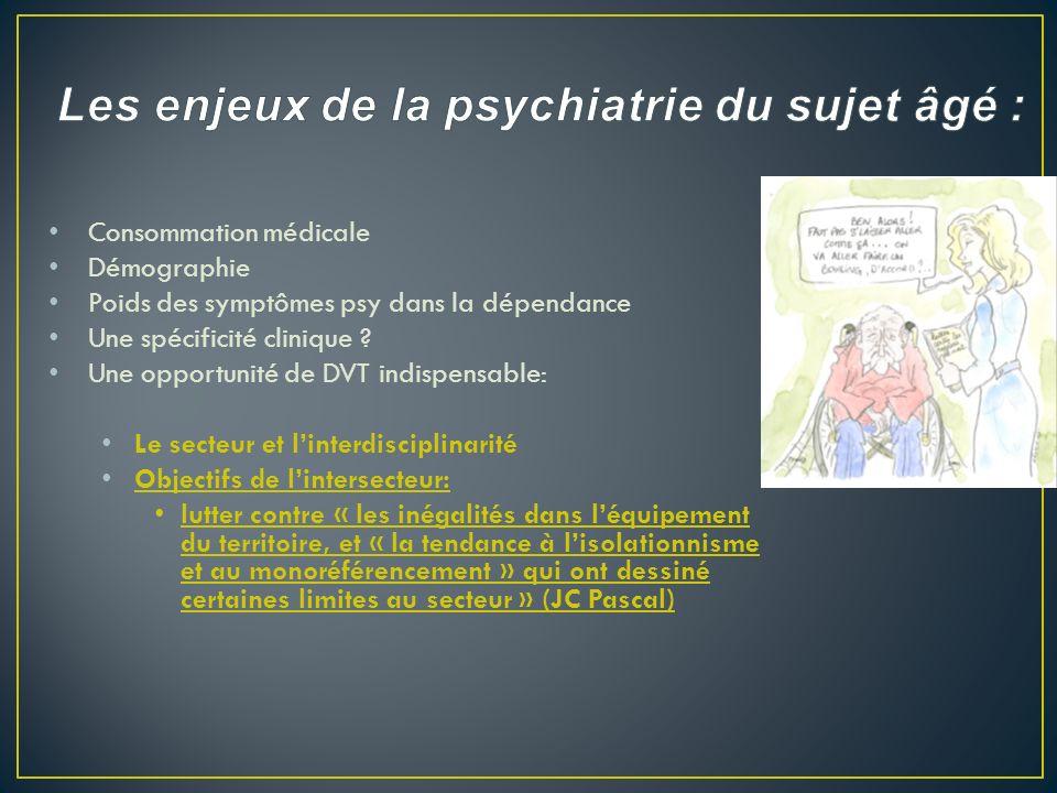 - Pas de schémas cohérents de la gérontopsychiatrie actuellement - Problème de vocabulaire : Gérontopsychiatrie ou Psychogériatrie .
