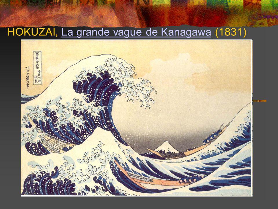 HOKUZAI, La grande vague de Kanagawa (1831)La grande vague de Kanagawa