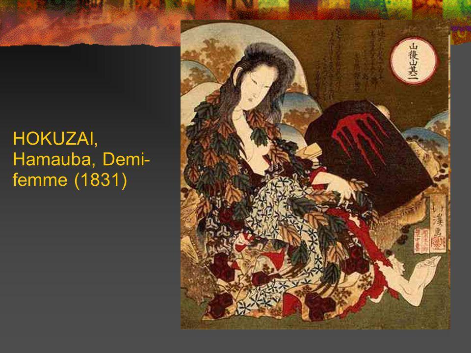HOKUZAI, Hamauba, Demi- femme (1831)