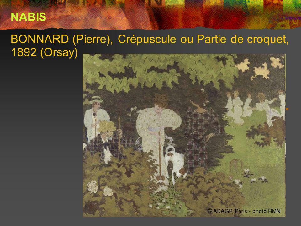 BONNARD (Pierre), Crépuscule ou Partie de croquet, 1892 (Orsay) NABIS