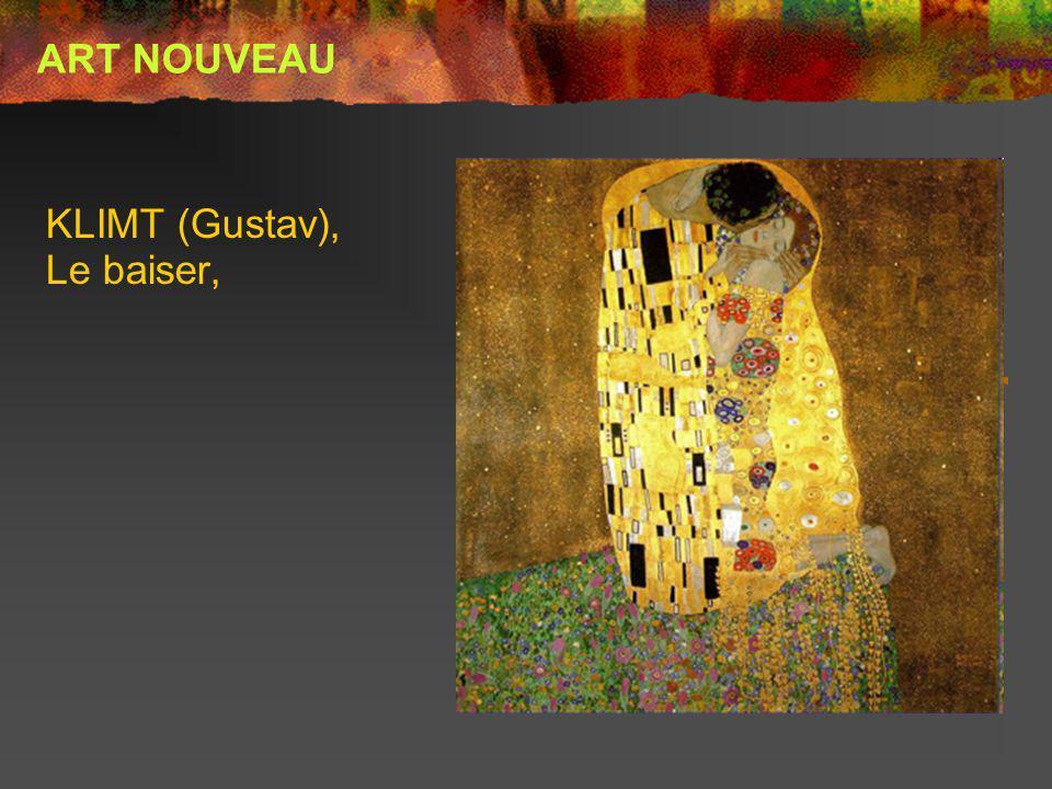 KLIMT (Gustav), Le baiser, ART NOUVEAU