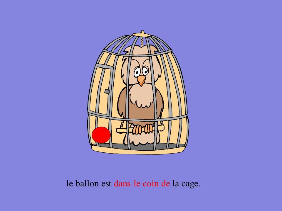 le ballon est à côté de la cage.