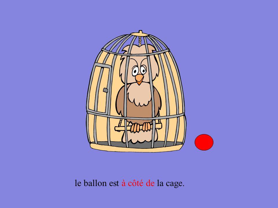 À droite À gauche le ballon est à droite de la cage.
