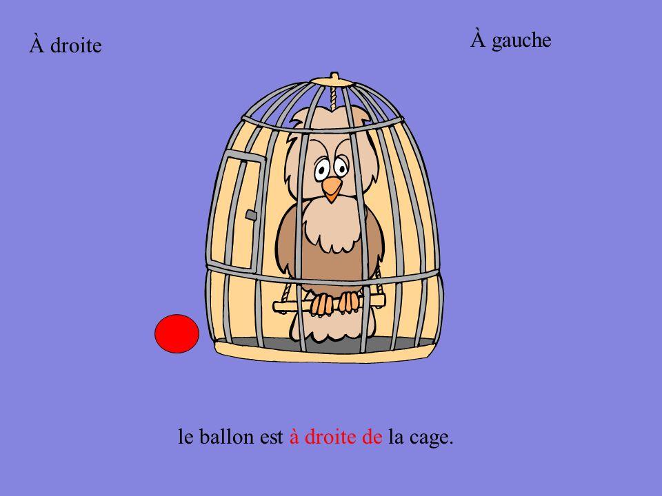 À droite le ballon est à gauche de la cage. À gauche