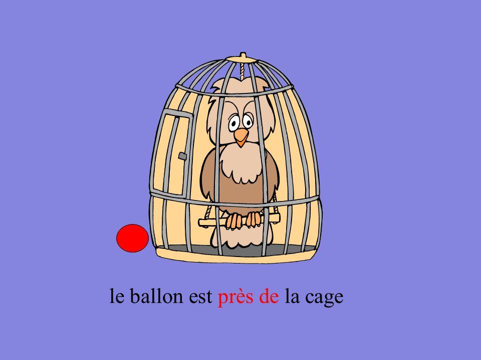 le ballon est loin de la cage