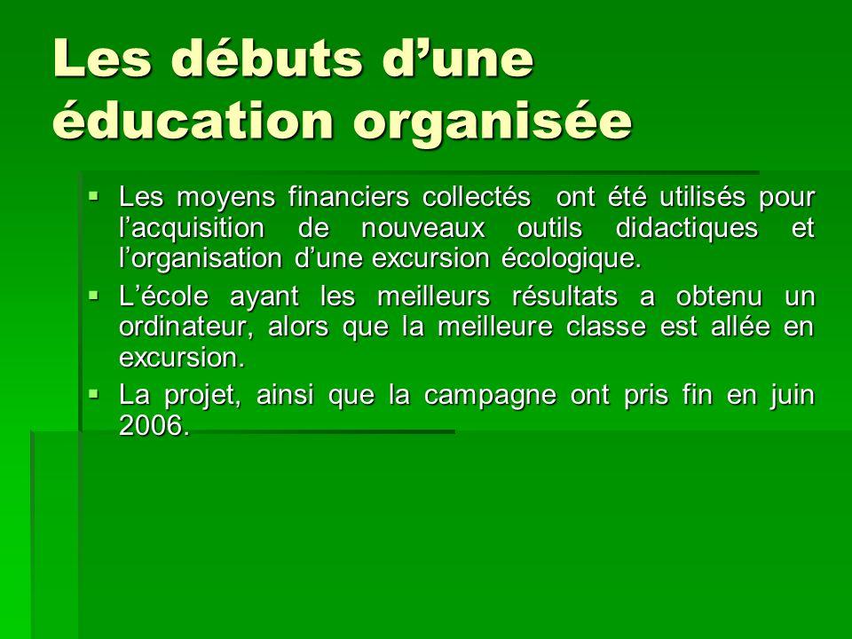 Les moyens financiers collectés ont été utilisés pour lacquisition de nouveaux outils didactiques et lorganisation dune excursion écologique. Les moye
