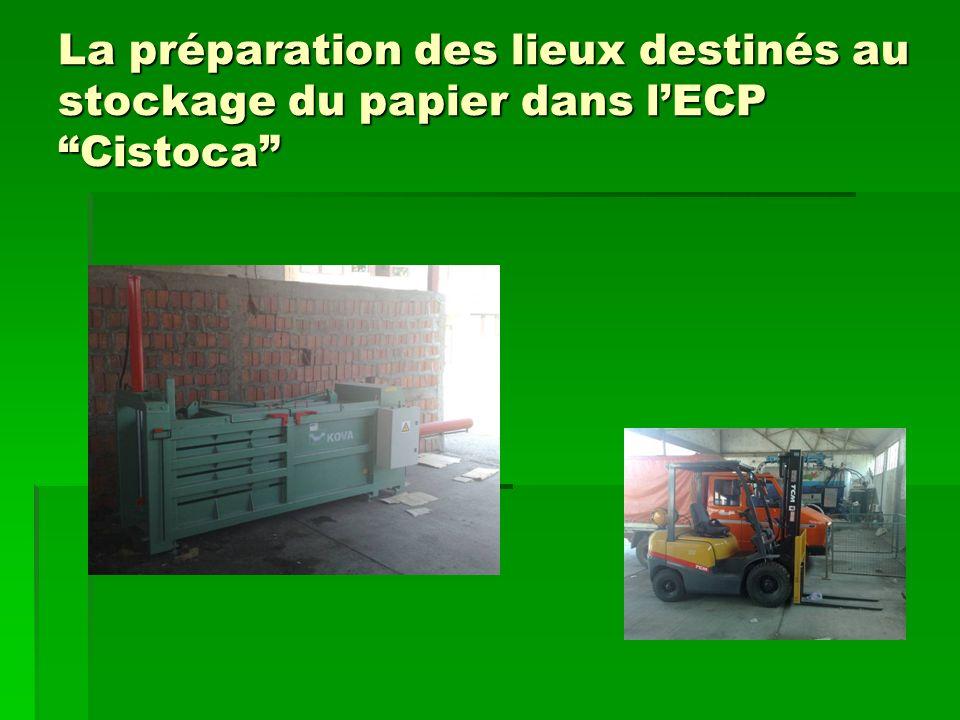 La préparation des lieux destinés au stockage du papier dans lECPCistoca