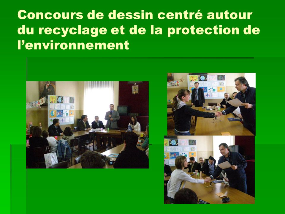 Concours de dessin centré autour du recyclage et de la protection de lenvironnement