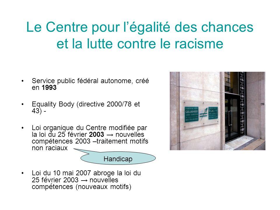 Contacts Centre pour légalité des chances et la lutte contre le racisme Rue Royale 138 à 1000 Bruxelles Tél.