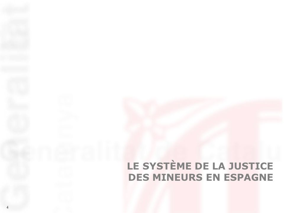 5 5 CONCEPTS PRÉALABLES Système de la justice des mineurs Il faut entendre, par système de la justice des mineurs, lensemble des règles pénales, des organes judiciaires et des organes administratifs qui interviennent lorsque des délits sont commis par des mineurs âgés de 14 à 17 ans - Compétences de lÉtat dans la justice des mineurs Législation pénale relative à la justice des mineurs (loi et règlement) Organisation des tribunaux pour enfants et du parquet des mineurs - Compétences des Communautés autonomes Organisation et gestion des équipes techniques au service des tribunaux et du parquet de mineurs Exécution des mesures imposées par les juges Développement normatif de leurs compétences dans le cadre de la législation nationale