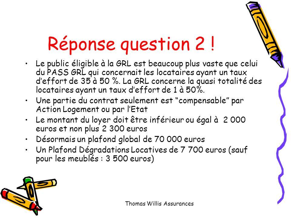 Question 2 : Quelles sont les principales différences entre le PASS GRL et la nouvelle GRL .