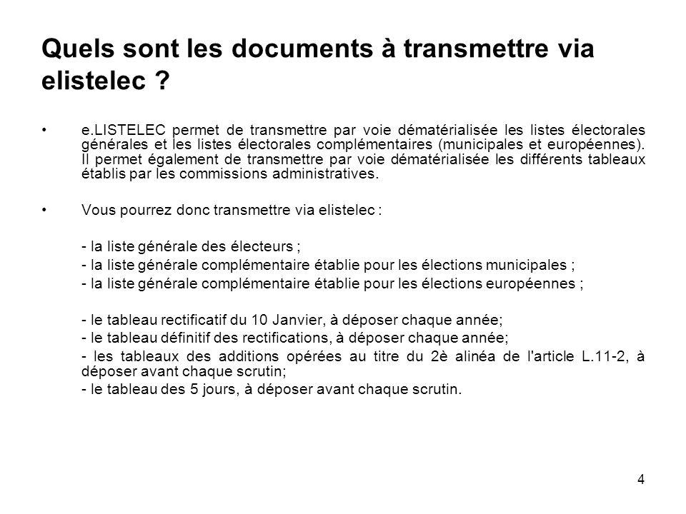 4 Quels sont les documents à transmettre via elistelec .