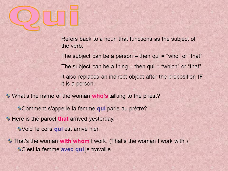 Refers back to a noun that functions as the subject of the verb.