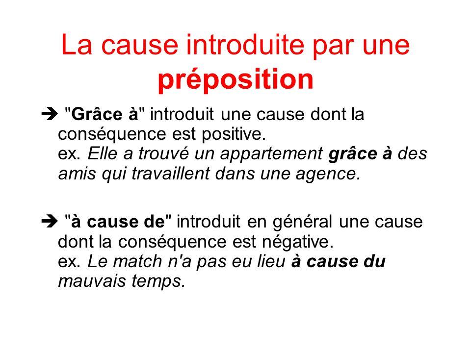 La cause introduite par une préposition En raison de introduit une cause dont la conséquence est neutre ; il est employé surtout à lécrit.