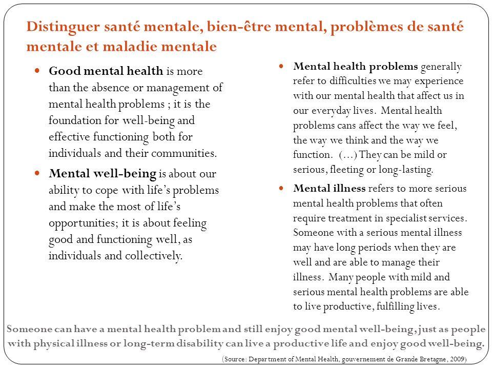 État de santé vs état de maladie mentale: une confusion totale Histoire de cas : témoignage dune stagiaire en psychologie Rôle social du malade physique vs du malade mental (Parsons) Faut-il soustraire le malade psychiatrique de ses tâches habituelles .