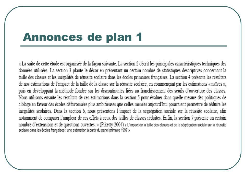 Annonces de plan 1