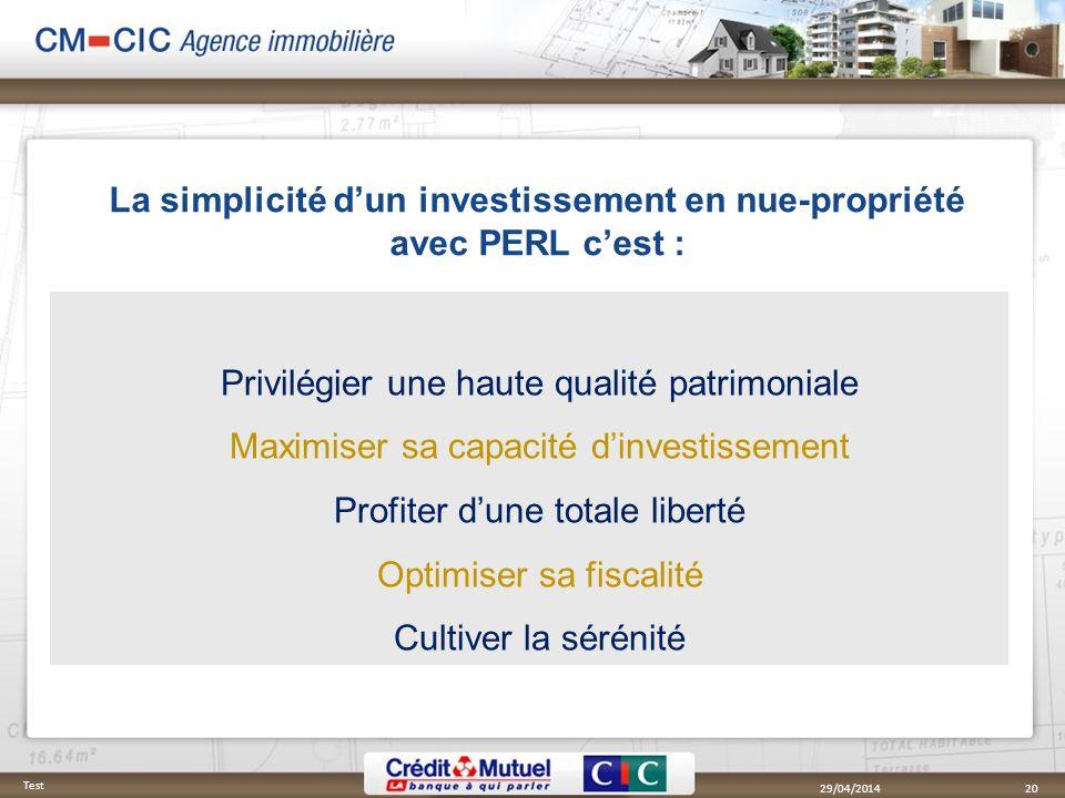 La simplicité dun investissement en nue-propriété avec PERL cest : Privilégier une haute qualité patrimoniale Maximiser sa capacité dinvestissement Pr