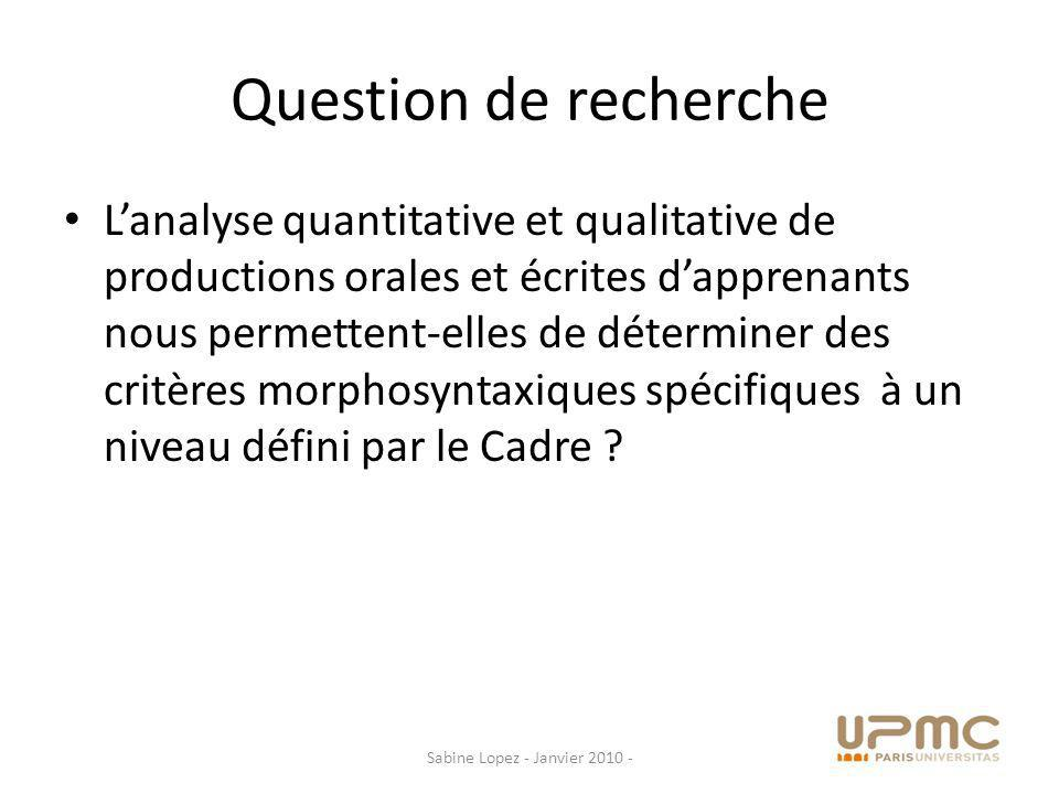 Thèses sous-jacentes Les programmations du Cadre, déclinées pour le français dans les premiers référentiels complémentaires, ne tiennent pas compte des résultats des recherches des acquisitionnistes.