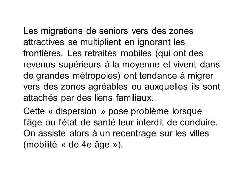Les migrations de seniors vers des zones attractives se multiplient en ignorant les frontières. Les retraités mobiles (qui ont des revenus supérieurs