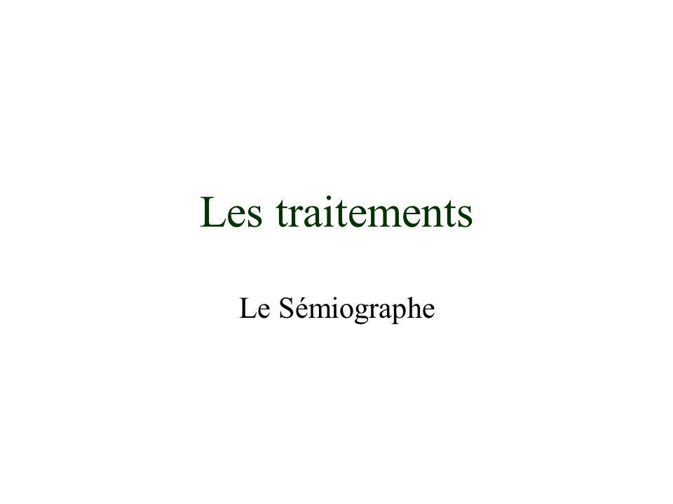 Les traitements Le Sémiographe