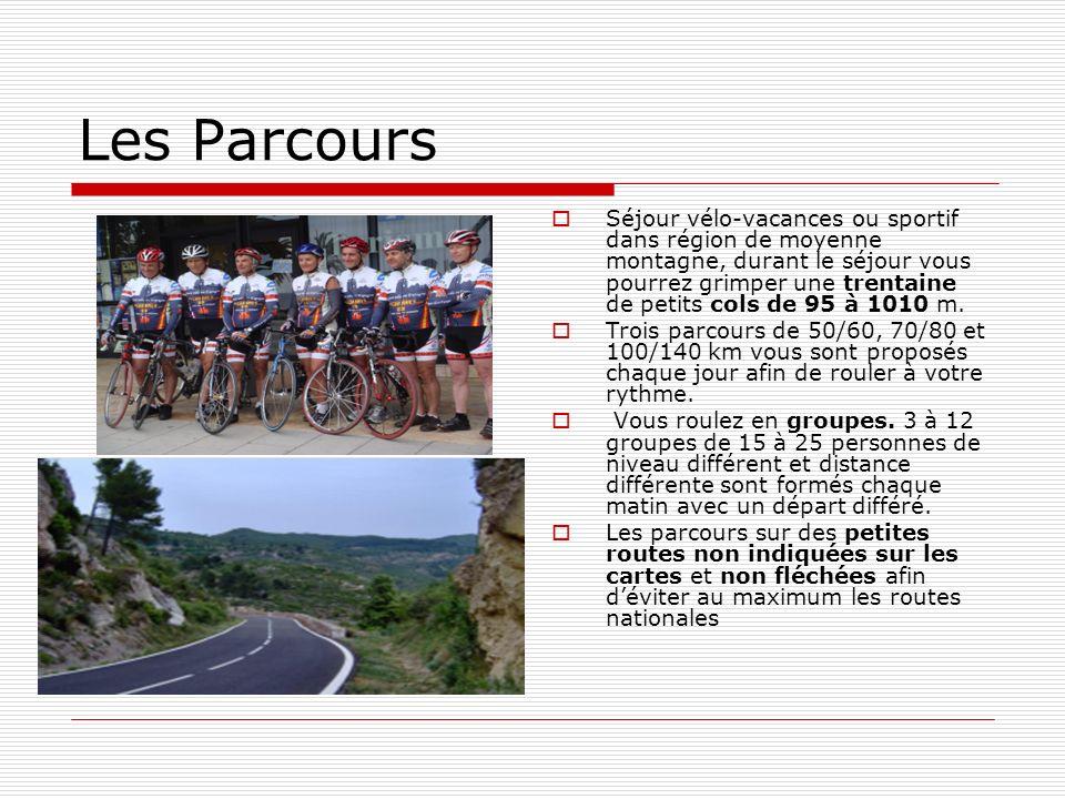 Les Parcours Séjour vélo-vacances ou sportif dans région de moyenne montagne, durant le séjour vous pourrez grimper une trentaine de petits cols de 95