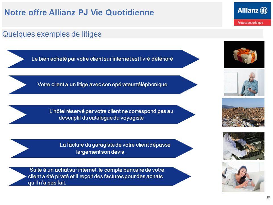 Quelques exemples de litiges Notre offre Allianz PJ Vie Quotidienne.