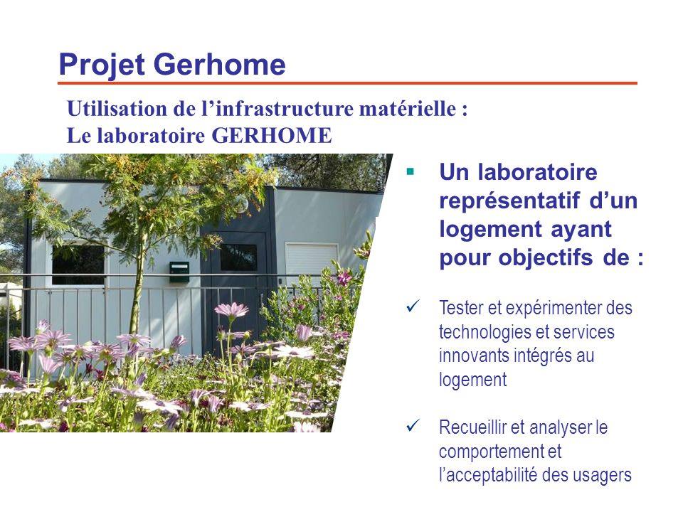 15 Projet Gerhome Un laboratoire représentatif dun logement ayant pour objectifs de : Tester et expérimenter des technologies et services innovants in