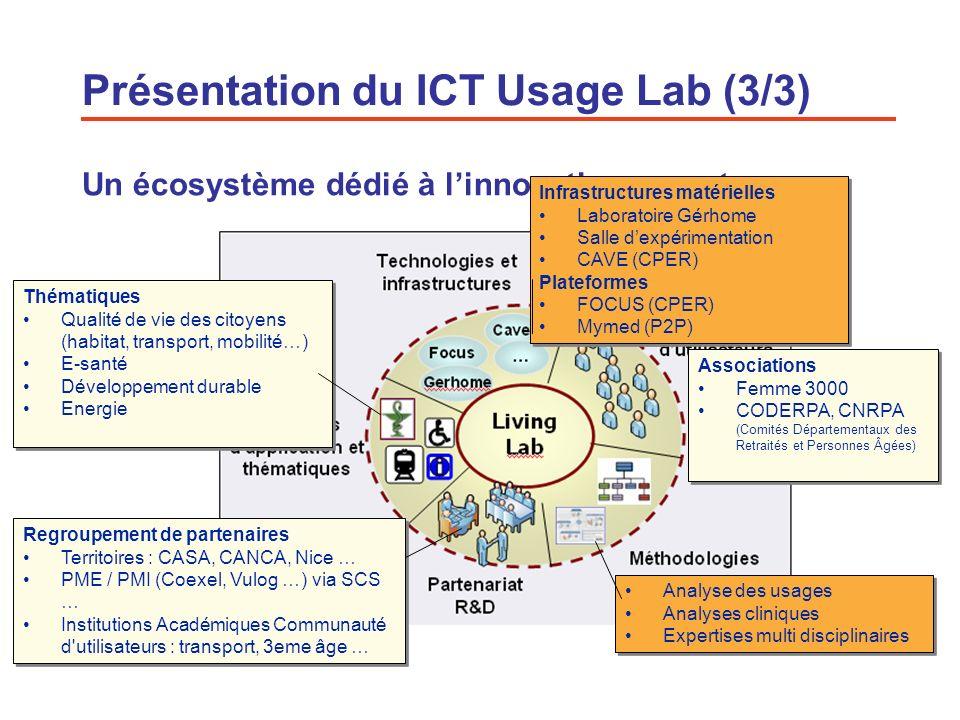 5 Un écosystème dédié à linnovation ouverte Regroupement de partenaires Territoires : CASA, CANCA, Nice … PME / PMI (Coexel, Vulog …) via SCS … Instit