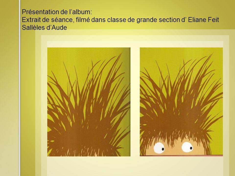 Présentation de lalbum: Extrait de séance, filmé dans classe de grande section d Eliane Feit Sallèles dAude