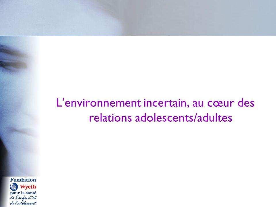 Lenvironnement incertain, au cœur des relations adolescents/adultes