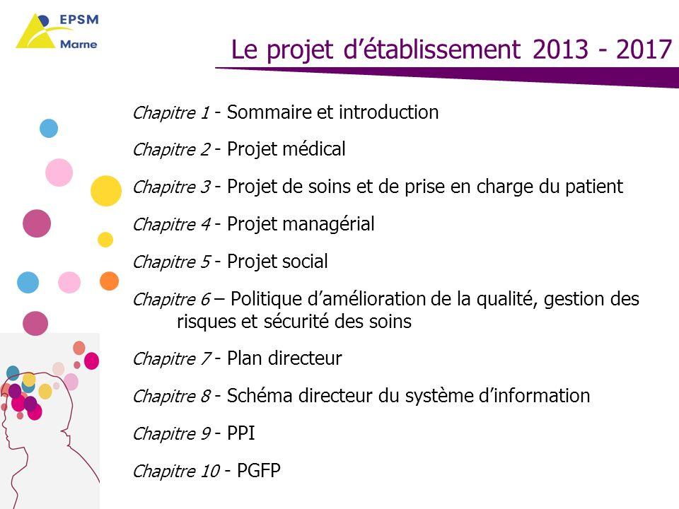 Le projet détablissement 2013 - 2017 Chapitre 1 Sommaire et introduction