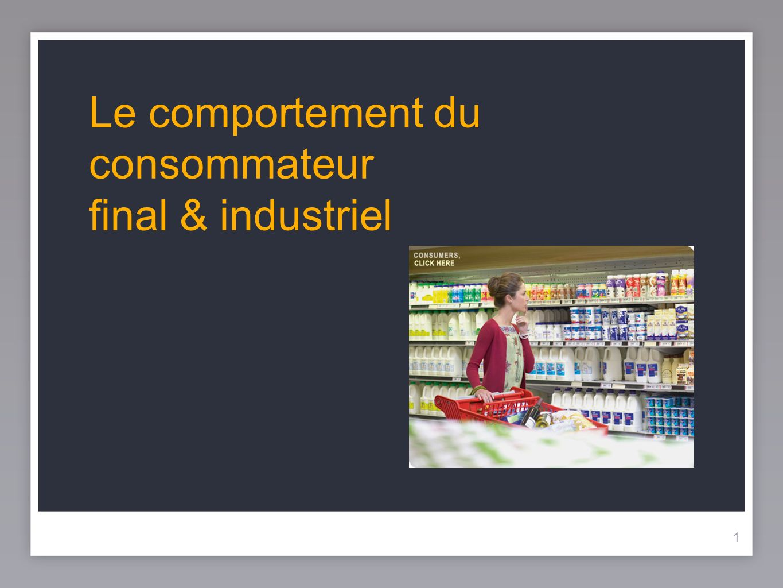 11 Le comportement du consommateur final & industriel