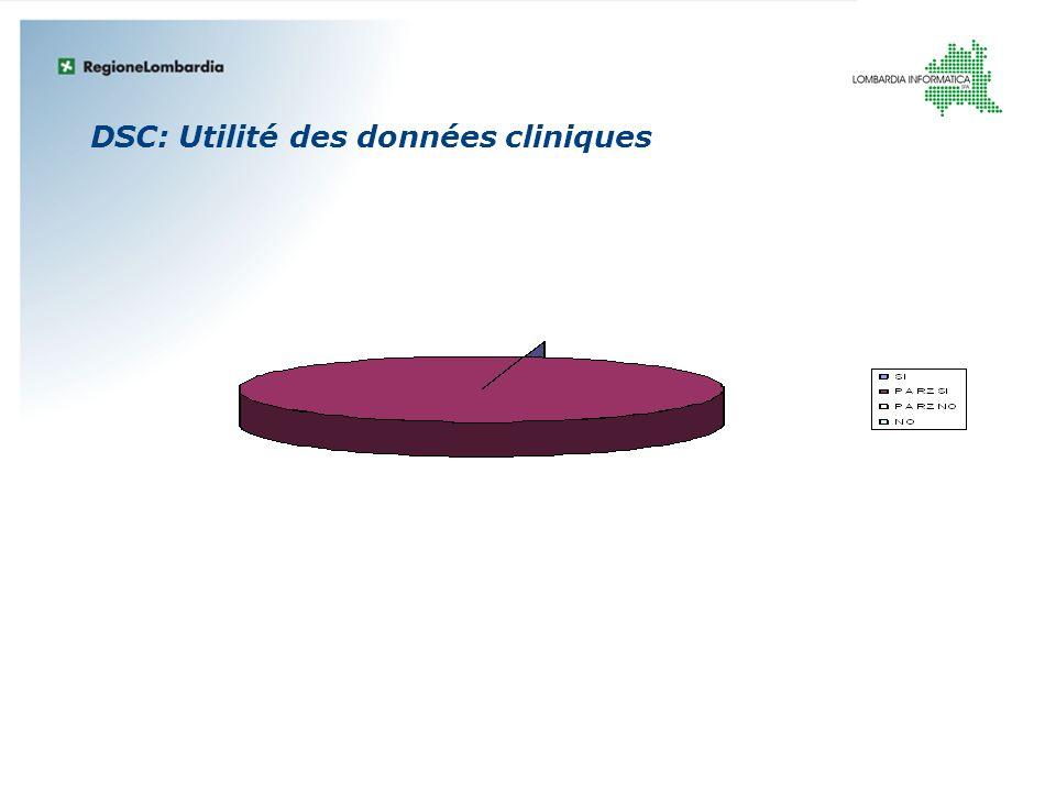 DSC: Utilité des données cliniques