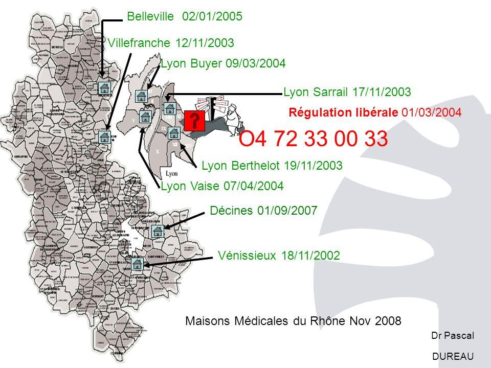 Maisons Médicales du Rhône Nov 2008 Lyon Buyer 09/03/2004 Vénissieux 18/11/2002 Villefranche 12/11/2003 Lyon Sarrail 17/11/2003 Lyon Vaise 07/04/2004