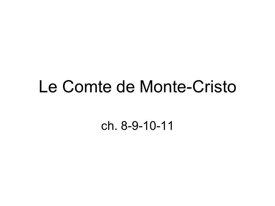 Le Comte de Monte-Cristo ch. 8-9-10-11