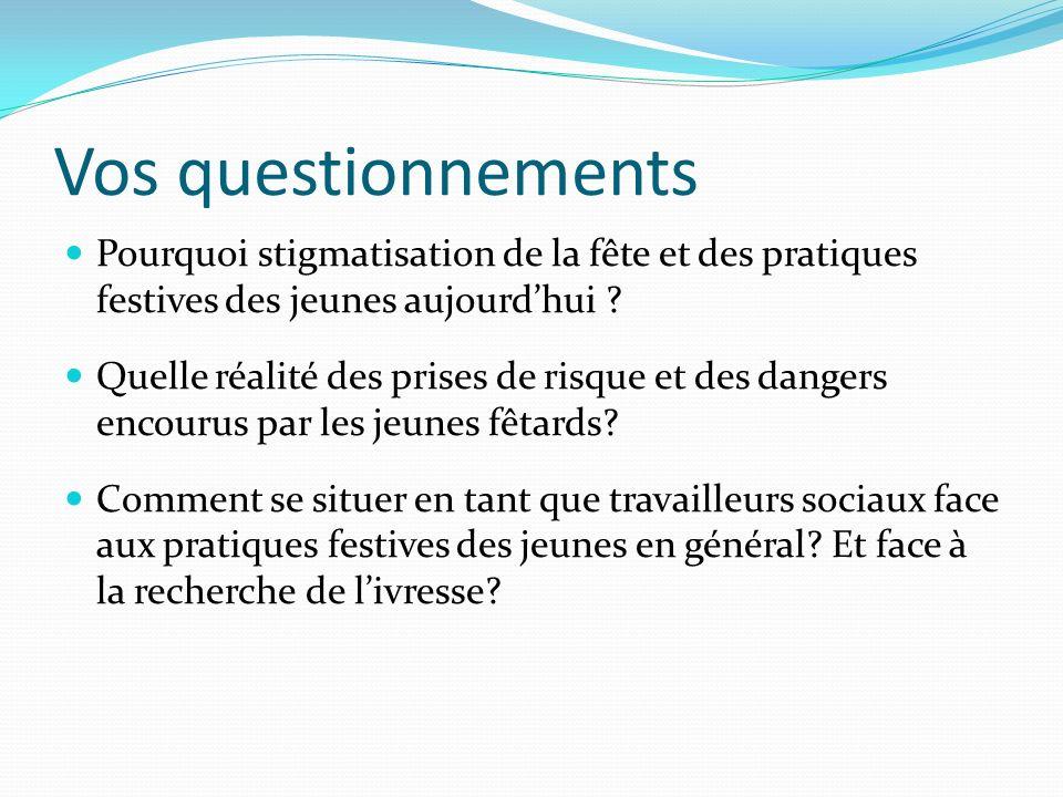Jeunes et pratiques festives 1.Anthropologie de la fête : codification et transgression 2.