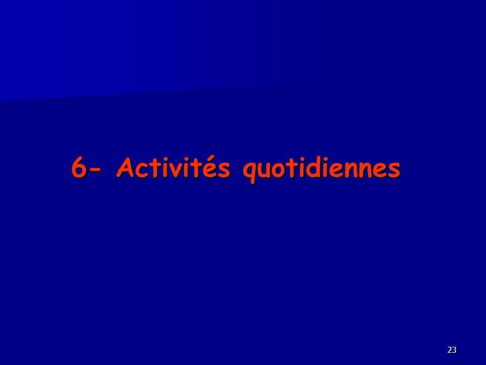 23 6- Activités quotidiennes