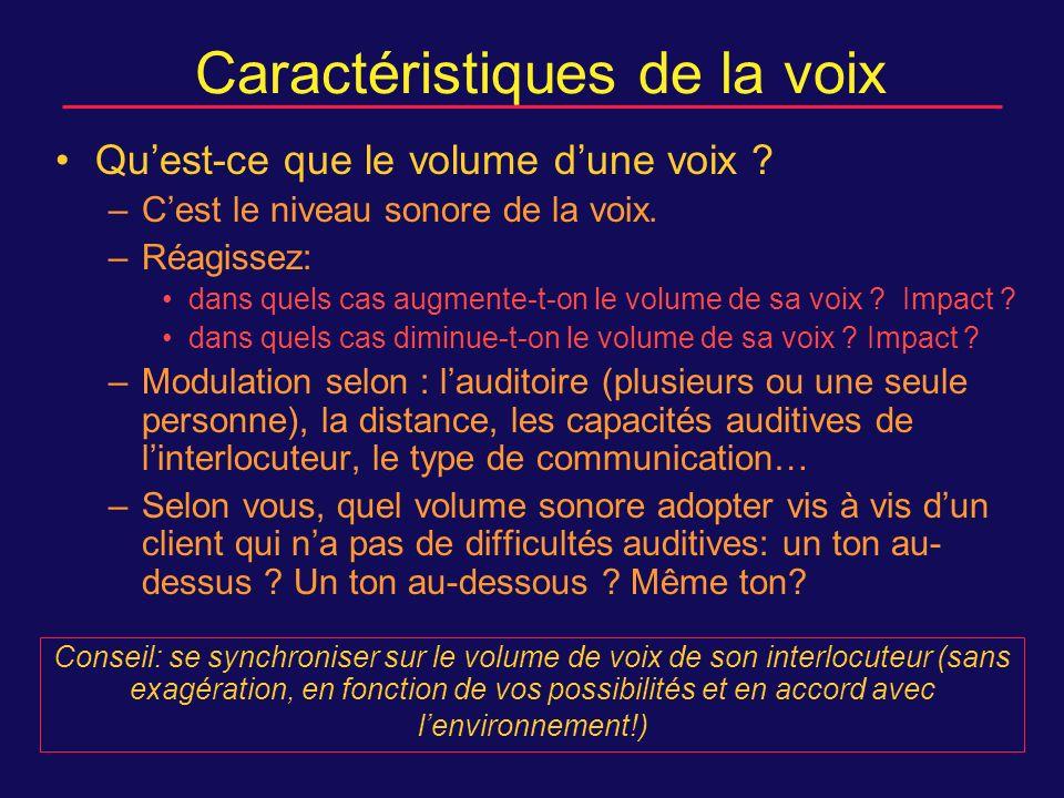 Caractéristiques de la voix Quest-ce que le volume dune voix .