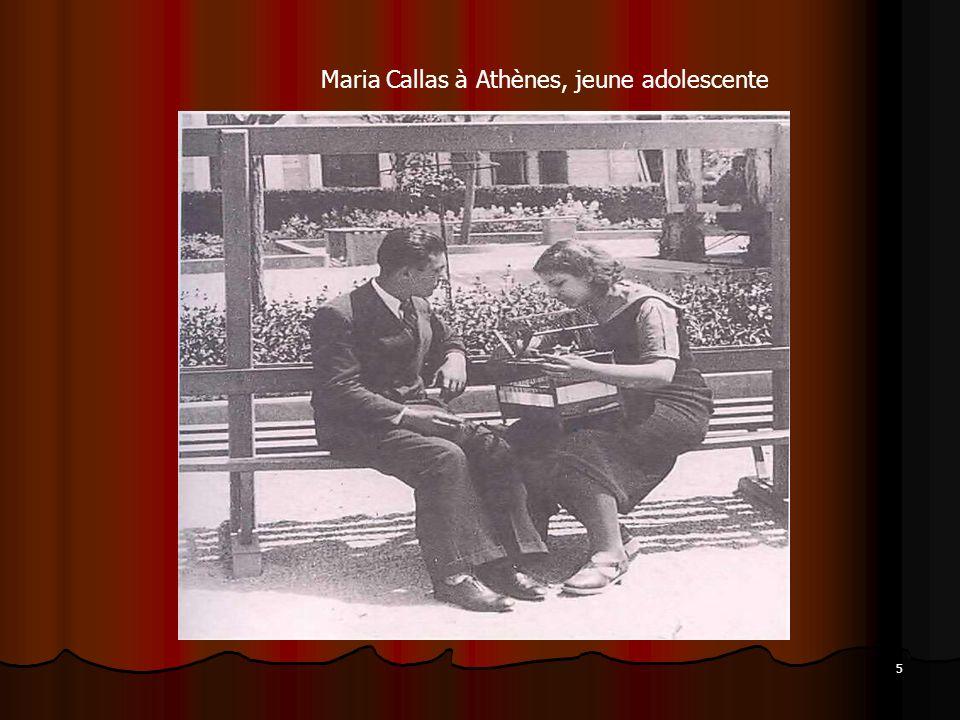 5 Maria Callas à Athènes, jeune adolescente