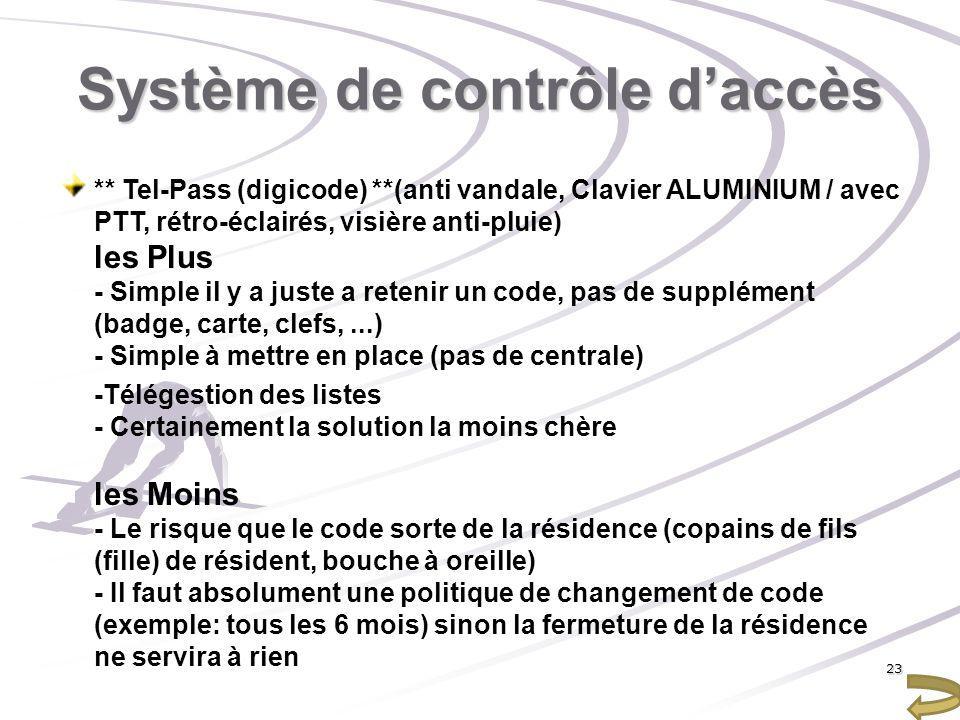 Système de contrôle daccès ** Tel-Pass (digicode) **(anti vandale, Clavier ALUMINIUM / avec PTT, rétro-éclairés, visière anti-pluie) les Plus - Simple