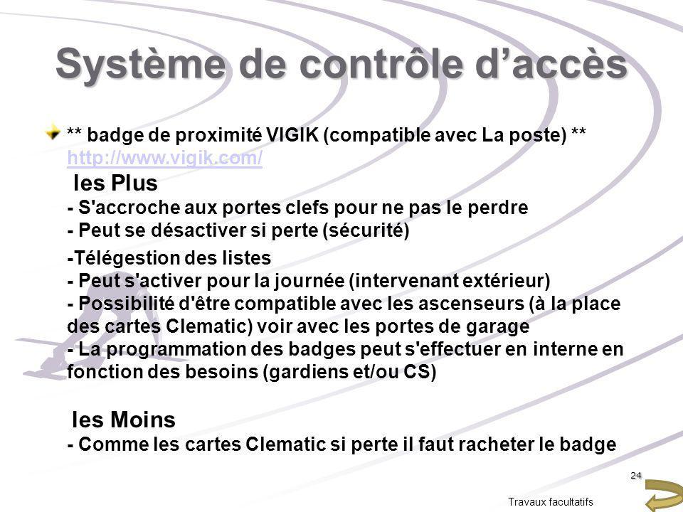 Système de contrôle daccès ** badge de proximité VIGIK (compatible avec La poste) ** http://www.vigik.com/ les Plus - S'accroche aux portes clefs pour