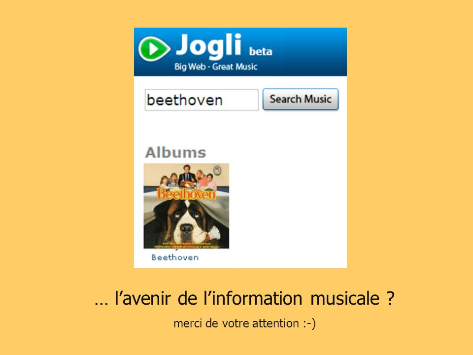 … lavenir de linformation musicale ? merci de votre attention :-)