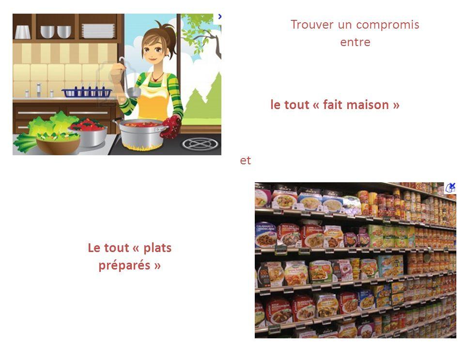 Trouver un compromis entre Le tout « plats préparés » et le tout « fait maison »