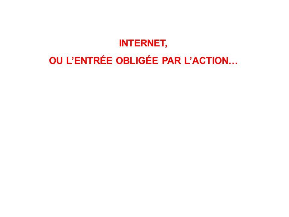 INTERNET, OU LENTRÉE OBLIGÉE PAR LACTION…