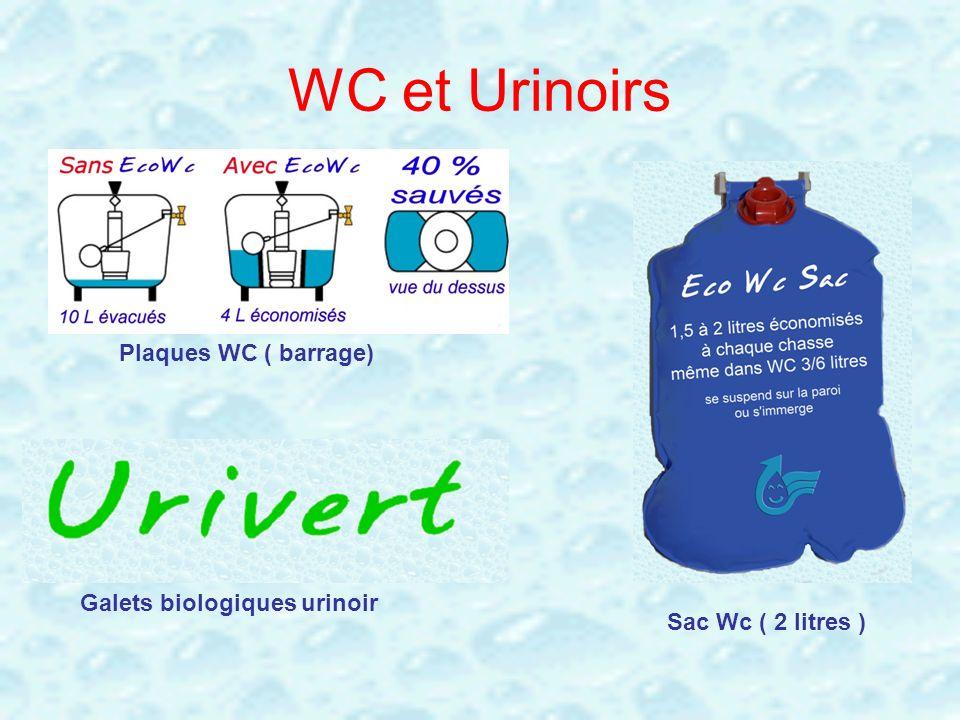 WC et Urinoirs Plaques WC ( barrage) Sac Wc ( 2 litres ) Galets biologiques urinoir