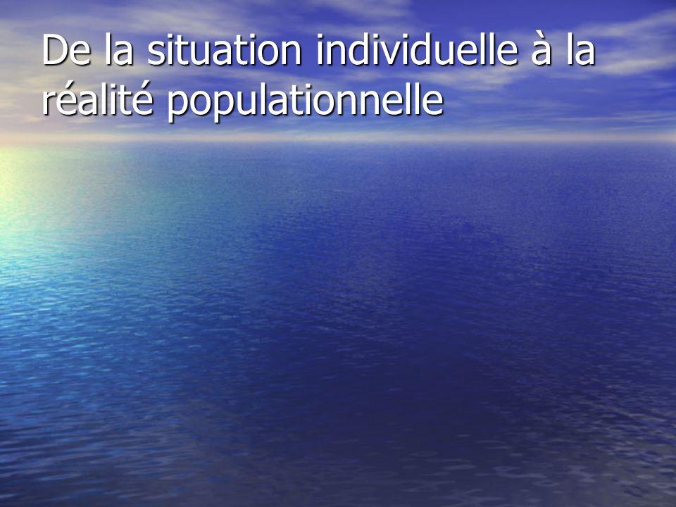 De la situation individuelle à la réalité populationnelle